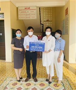 Việt Phúc Group quyên góp ủng hộ 100 triệu đồng Tăng cường phòng, chống dịch Covid-19 phục vụ bầu cử ĐBQH và HĐND tại huyện Quốc Oai