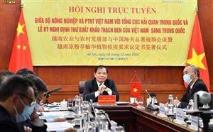 Bộ trưởng đích thân chào bán chanh leo, khoai lang... sang Trung Quốc