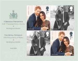 Ra mắt bộ tem đặc biệt chào mừng đám cưới Hoàng gia Anh